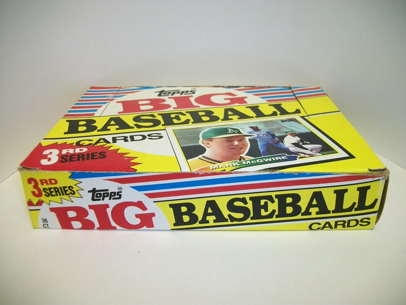 Vintage 1988 Topps Big Baseball Cards 3rd Series Sealed