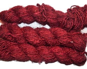 FREE S/&H 100g Himalayan SILK Yarn Red Burgundy mix color