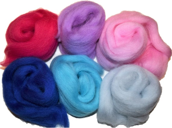 Retro Lot of 36 colors Merino Wool Fibre Roving For Needle Felting Hand Spinning