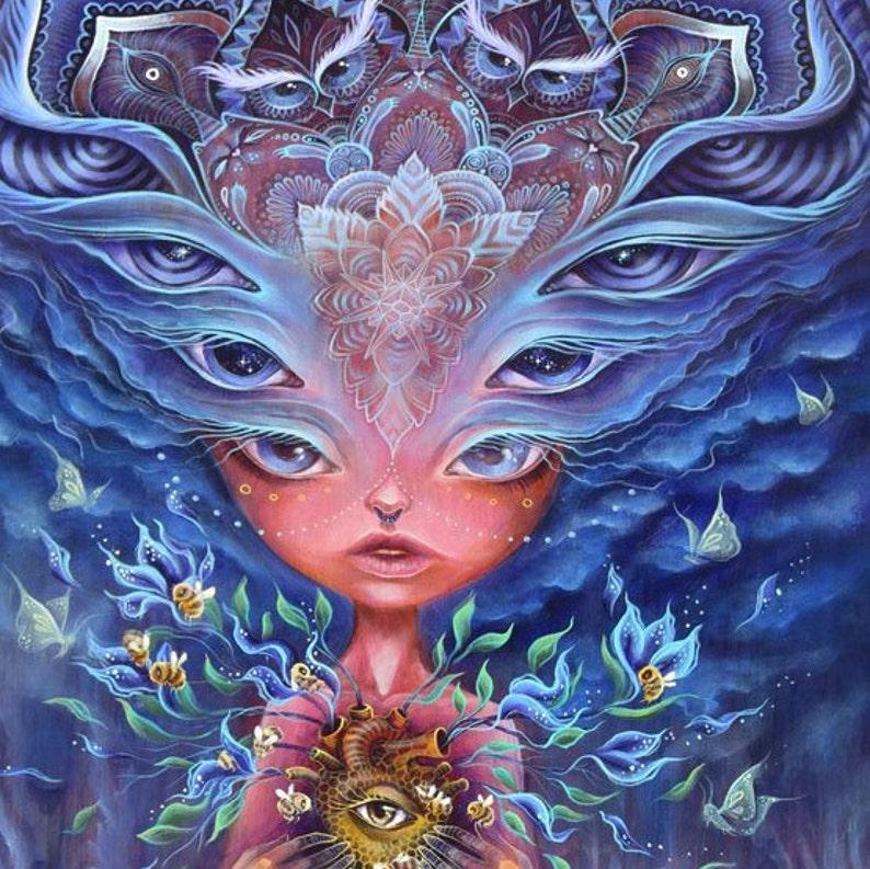Cosmic Hive  giclee print art by phresha spiritual image 0