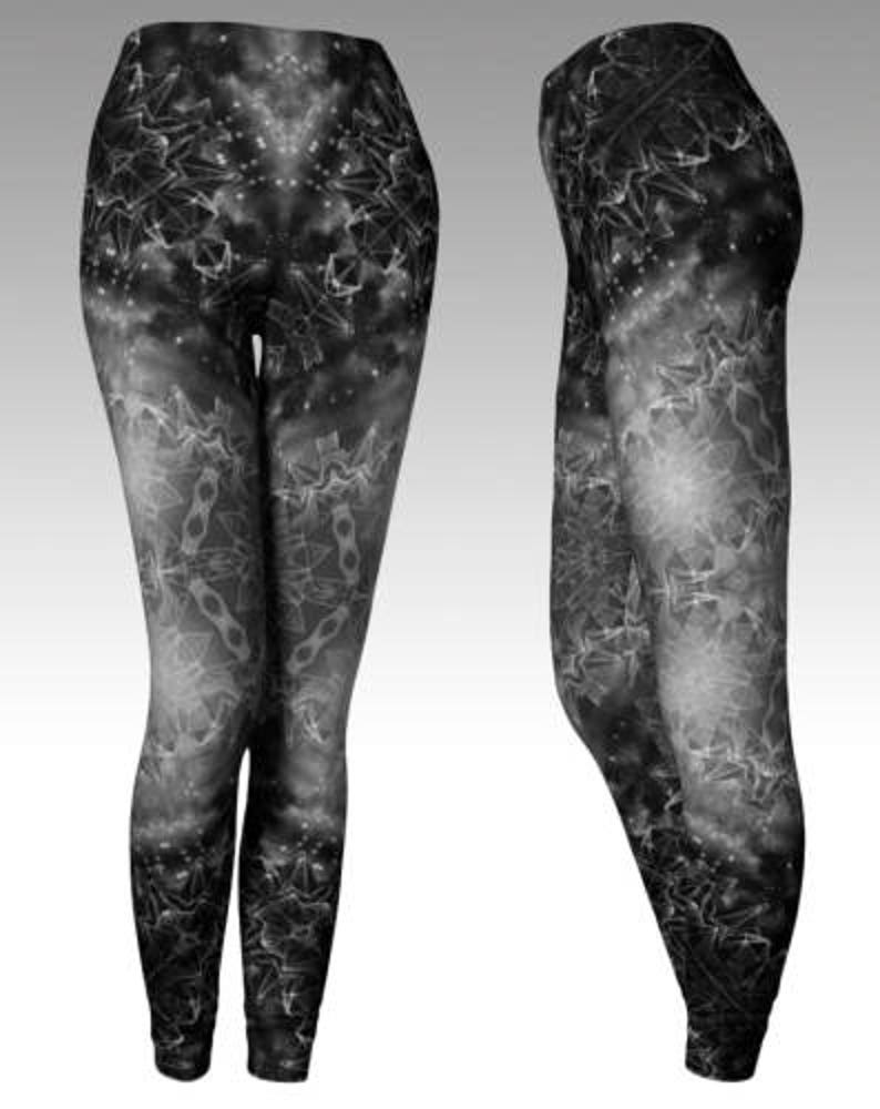 Dark Crystal Leggings  art leggings yoga leggings digital image 0