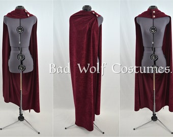 Versatile Fantasy Cape - Color & button options! - Sword, dragon, Celtic, horse, tree of life - Suede