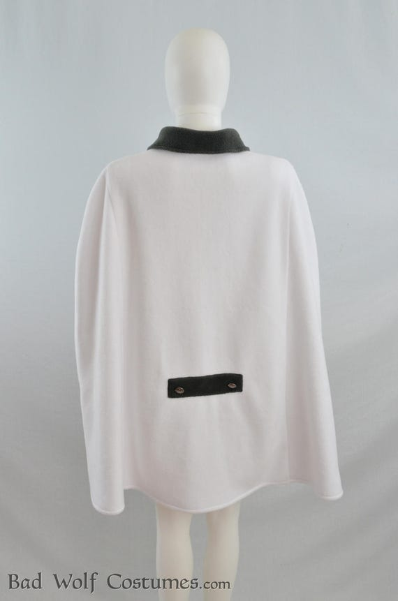 New Ivory Fleece Bridal Cape w// Faux Fur Cloak Coat By SewingCreators