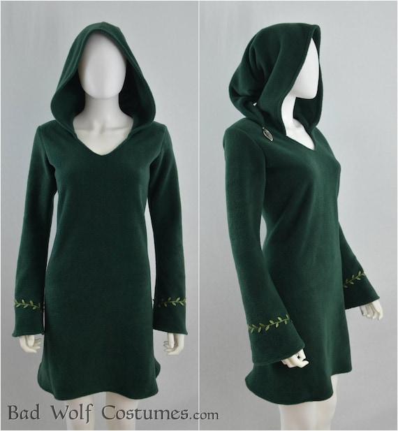classy Elven Fleeece Pullover cozy woodland elegant Fantasy elf style 6 warm Color Options!