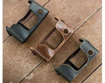 Kenji Leather Half Case for Fujifilm fuji Xpro-1 X pro 1 Xpro1 , 3 colors avail