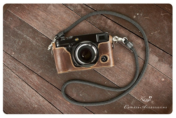 Handmade Genuine real Leather Full Camera Case bag cover for FUJIFILM X-Pro1 Brown color