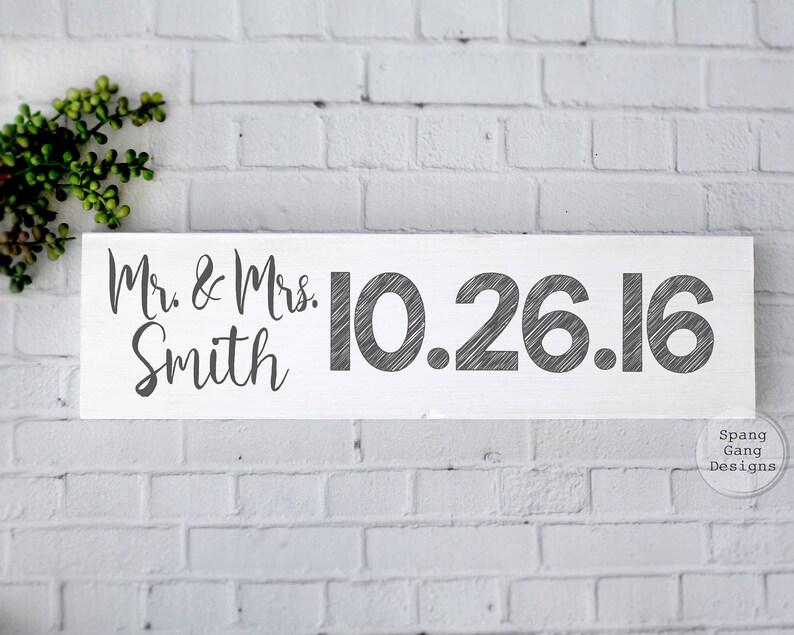 Engagement Photo SignBridal Shower GiftSave the Date Photo PropWedding Name SignWedding GiftRustic Wedding DecorEngagement Gift