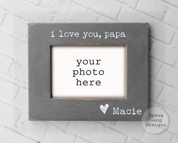 i love you papa photo frame Father\'s Day Gift | Etsy