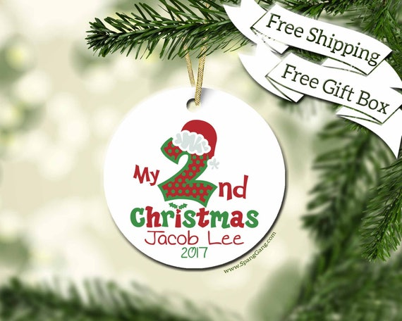 Baby\'s Second Christmas Ornament Personalized Christmas   Etsy