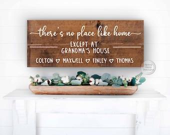 Christmas Gift for Grandma   Gift for Grandpa   Grandparent Christmas   Nana Birthday   There's No Place Like Home Sign   New Grandma Gift