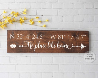 latitude longitude sign | GPS sign | coordinates sign | address plaque | custom coordinates | wedding shower gift | GPS coordinates sign