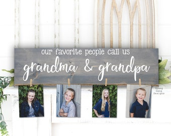 Our Favorite People Call Us...  Mimi & Papa Gift   Photo Holder   Grandparent Gift   Personalized   Christmas Birthday Mother's Day Nana Mom