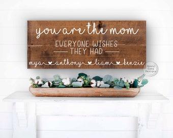 Gift For Mom   Mom gift from Kids   Best Mom   Christmas Mom   Christmas Gift to Mom from Kids   Mom Gift Idea   Mom Sign   Mom Birthday