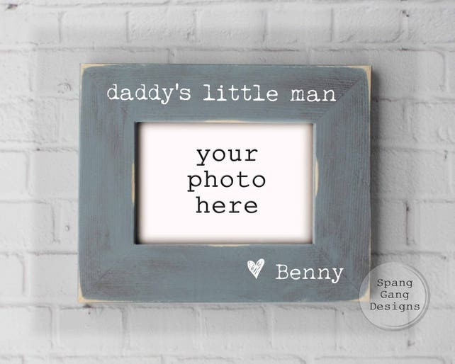 daddy\'s little man photo frame Father\'s Day Gift | Etsy