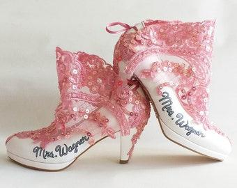 Dusty Pink Custom Wedding Shoes
