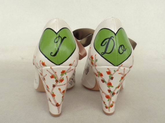 Wedding Shoes Shoes painted Custom Hand Bridal for Winter Bride Wedding Rxdqww5vp