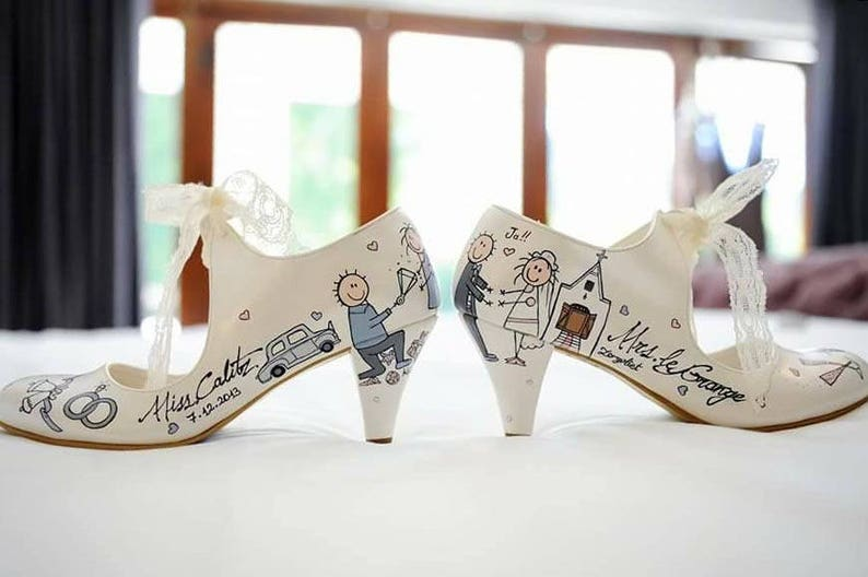 335660313c3ac Custom buty ślubne dla panny młodej ręcznie malowane obuwie | Etsy