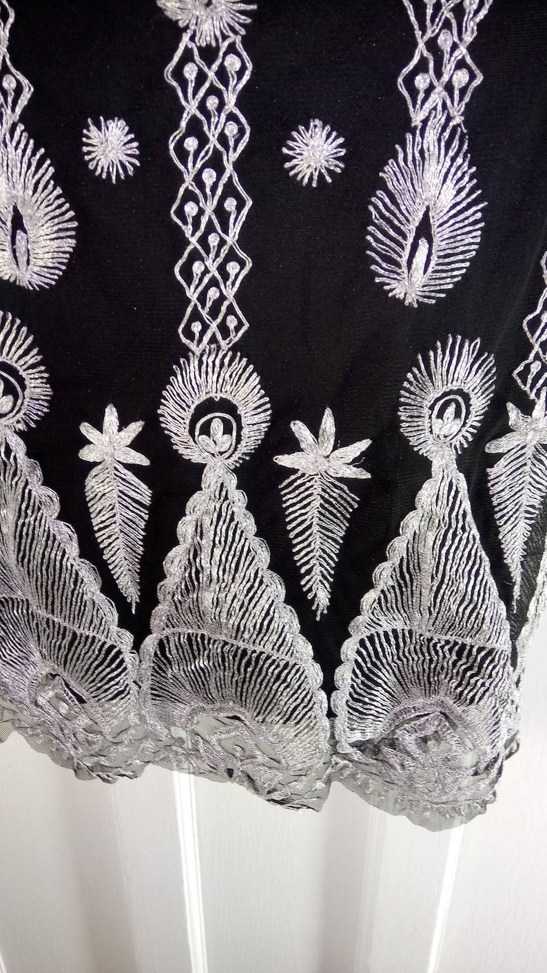 black flapper 1920s rehearsal party great gatsby dress wedding guest ladies dress charleston Down Abbey