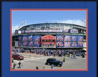Wrigley Field Framed Picture - Chicago Cubs 100 Year Celebration
