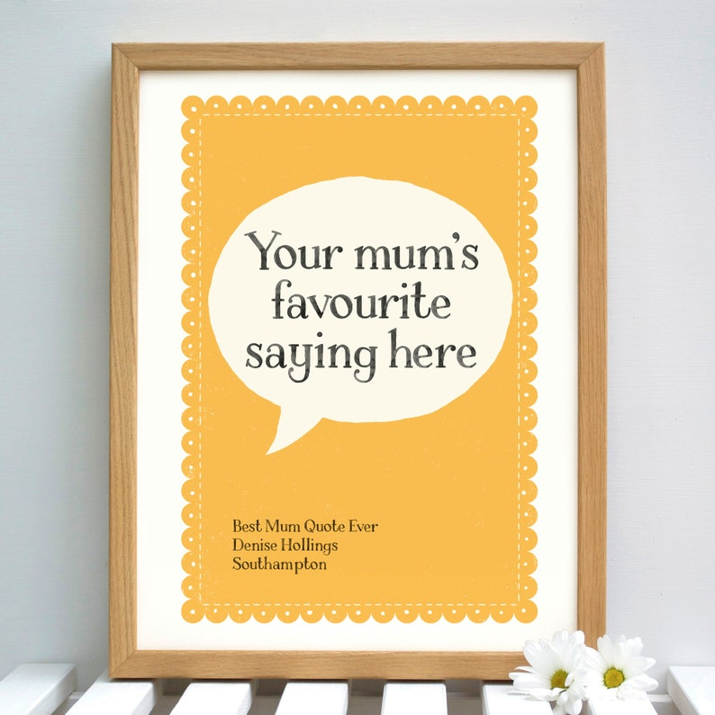 Personalised Mum's Funny Sayings Print  Gift for image 0