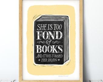 Fond of Books Print