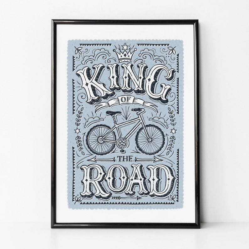King of the Road Men's Cycling Print image 0