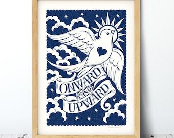 Onward and Upward Print