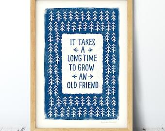 Old Friend Print