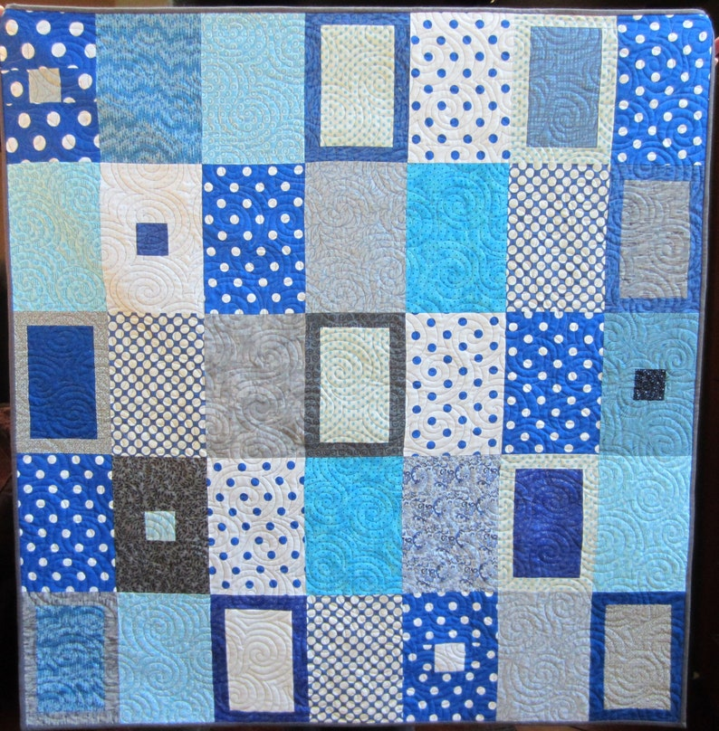 Tranquil Forest Quilt Pattern  Digital Download  3 Sizes image 0