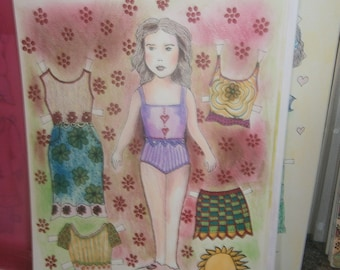 Sharyl Paper Doll Set