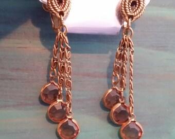 Vintage Dangling Adjustable Clip On Earrings