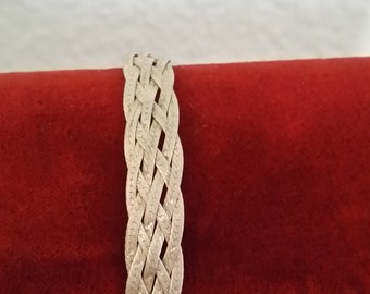 Silver .925 Braided Chain Bracelet