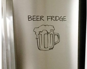 Kühlschrank Aufkleber : Bier kühlschrank aufkleber etsy