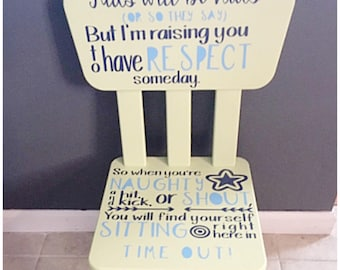 Superbe Child Time Out Chair Decal   Toddler TimeOut Chair Vinyl Decal   Neutral  Boy Girl Time Out Furniture Decor Kids Will Be Kids Transfer Vinyl