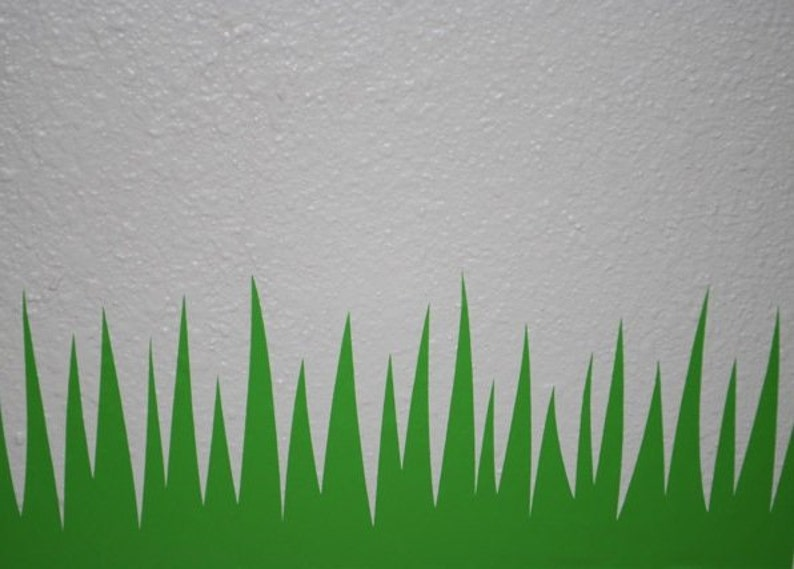 12 IN Tall Blades - Grass Decal - Green Adhesive Grass Border - Removable  Vinyl Wall Decal - Decorative Baseboard Border - Grass Blades