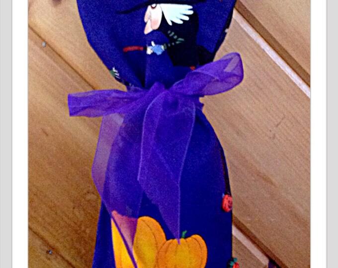 Grumpy Old Witch Wine Bag  Halloween Bottle Bag hostess gift Halloween party gift wine bottle decor Grandma Gift Halloween  Birthday Gift