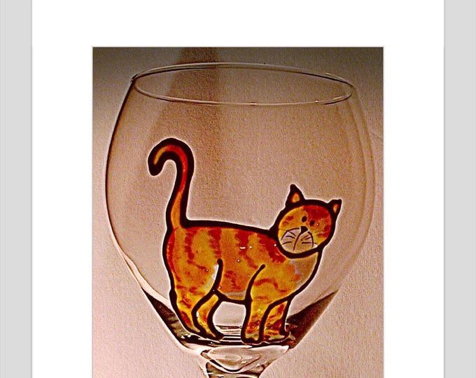 Cat lover Gift  Cat Wine Glass Cat Mug Pet sitter Thank you Thank you Gift Cat Gift Funny Wine Glass New kitten Meowy Christmas pet memorial
