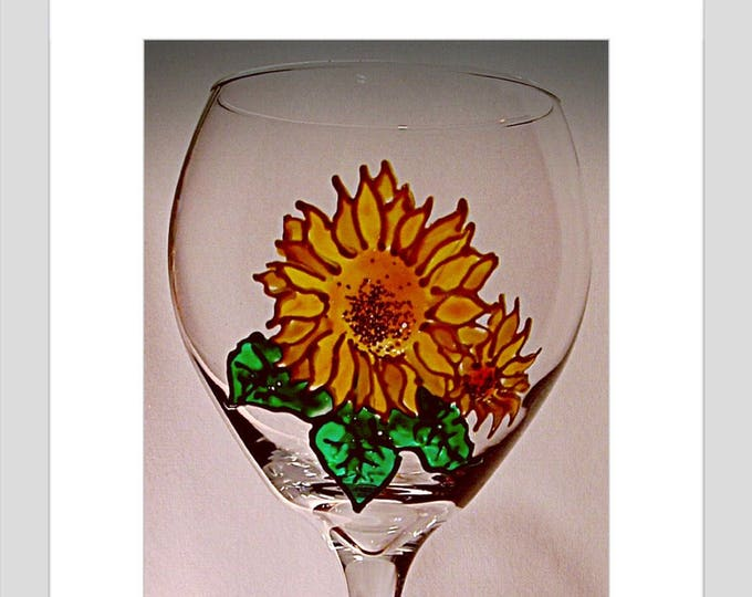 Sunflowers gift for her Stained Glass kitchen decor Farmhouse decor Farmhouse table hostess gift Wedding Sunflowers Bride and Groom Gift