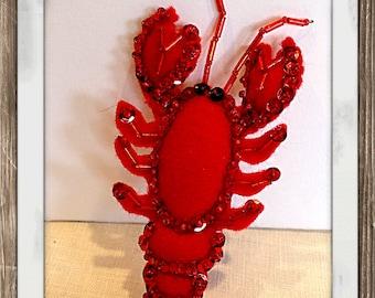Your my Lobster Felt Lobster Christmas Ornament Nautical Decor Beach Decor Housewarming mobile bebe Baby mobile nursery decor nursery mobile