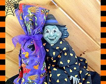 Halloween Diva Witch Wine Bag Disco Dancing Purple Orange Tote Bag Halloween Bottle Bag hostess gift Halloween party gift wine bottle decor