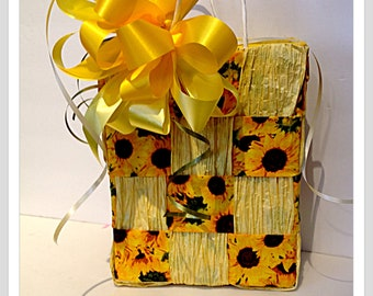Sunflower gift tote bag Gardener gift for him gift for her boyfriend gift girlfriend gift garden party birthday thank you gift housewarming