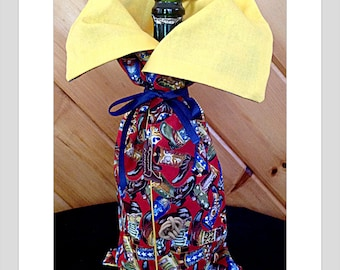 Western Bottle Bag Cowboy Boots Cowboy Hats Ropes and Spurs Cowgirl gift Thank you Gift Horse Sitter Western Wedding Ranch Wedding Rancher