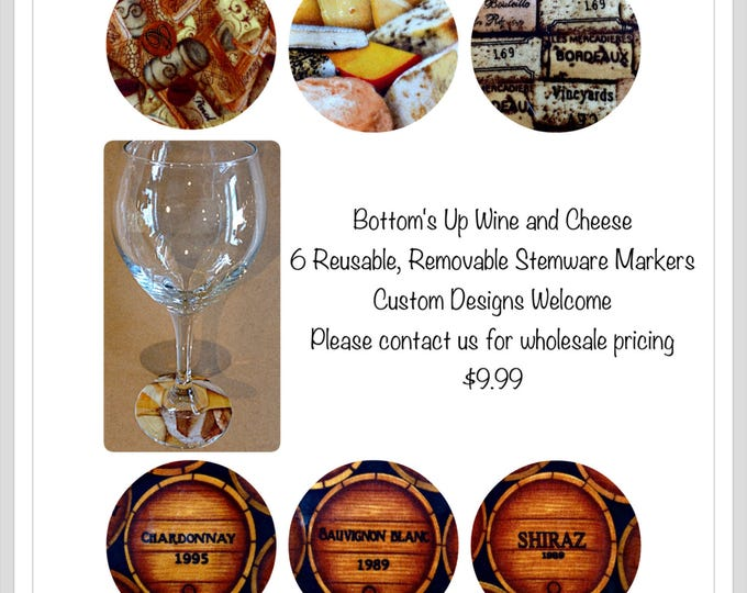 Wine and Cheese,Wine themed Gift,Wine Markers,Wine Barrels,Cheese gift,Wine lovers gift,Wine tasting item,Gift for boss,gift for dad,favor