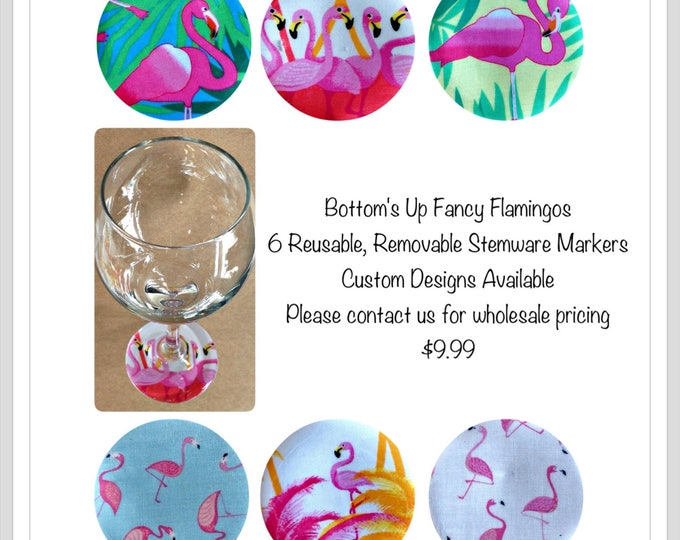 Flamingo lover gift Flamingo wine charm Pink Flamingo gift idea wine lover gift Tropical theme Tropical Party Island Wedding Hostess Gift