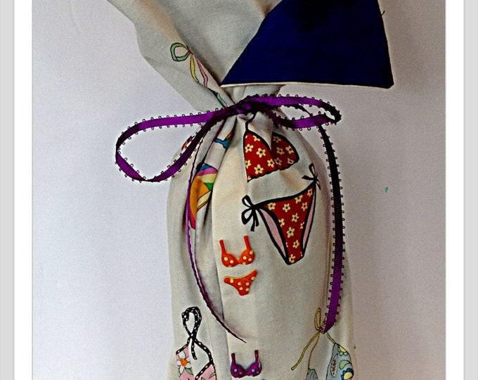 Bikini Bottle Bag Gift Bag  Wine Bottle Bag  funny gift for her Birthday Gift Shower Gift Bridal Shower Gift wedding Thank you beach theme