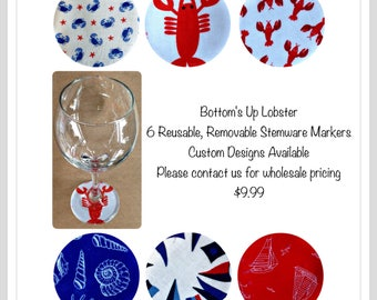 Nautical Decor Your my Lobster Wine glass marker charms New England wedding favor engagement gift for her gift for Mom shower favor gift
