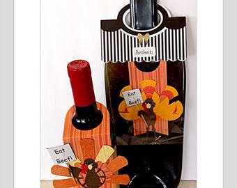 Thanksgiving card Thanksgiving gift thanksgiving tag bottle gift tag gather sign thankful for you funny card funny turkey autumn card turkey