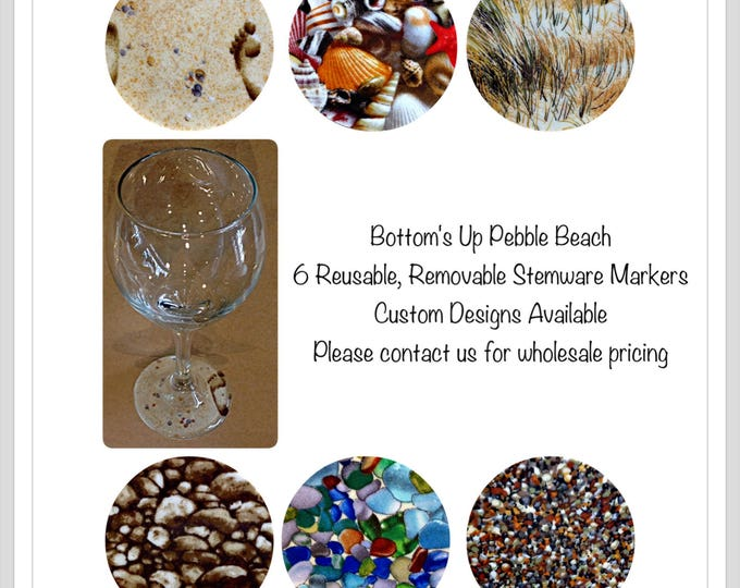 Beach lover gift Beach wine markers,beach sand,sea glass, sea shells, sea grass, beach wedding, wedding favor, beach party gift,gift for her
