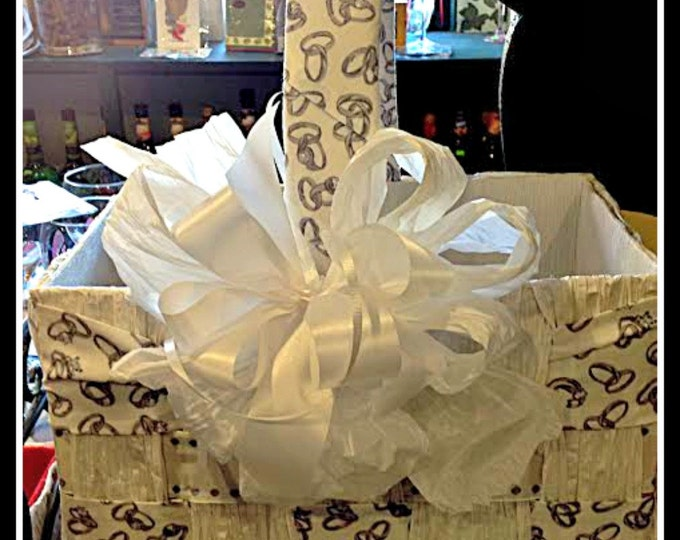Wedding gift basket flower girl basket wedding ring engagement ring fabric wedding present engagement gift bridal shower gift