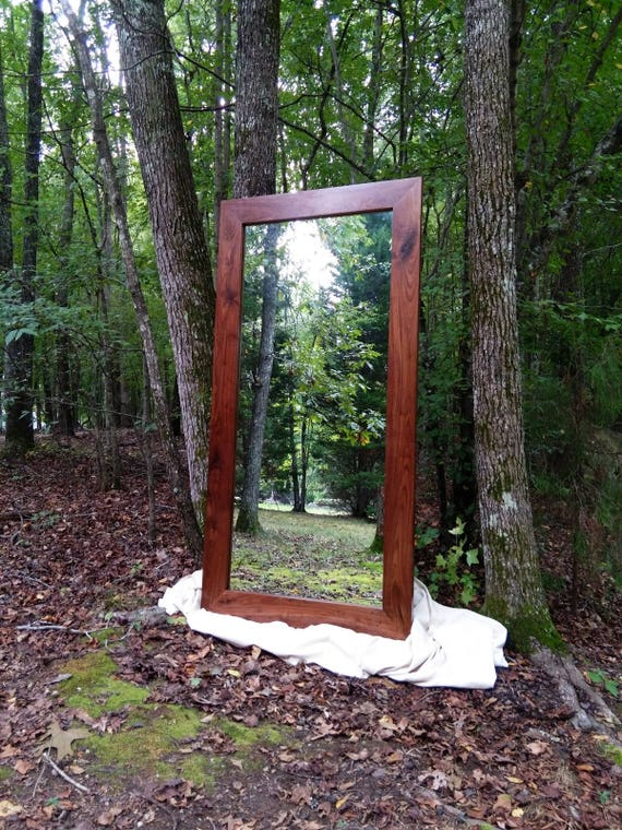 Solid Walnut Floor Mirror Leaner Mirror Large Mirror Large